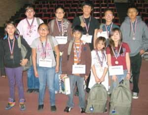 BIE's Western Agency Spelling Bee winners
