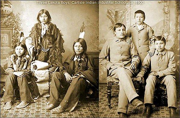 Three Lakota Boys