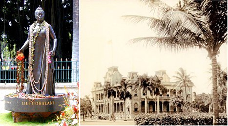 queen lili'uokalani and hawaii state capitol